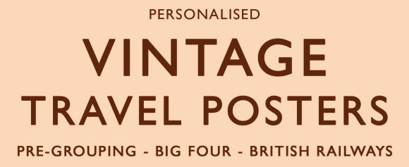Personalised Vintage Travel Posters